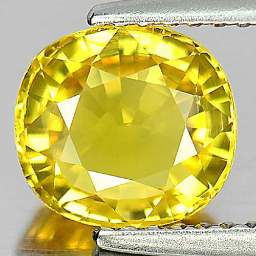 Yellow Sapphire 2.18 Ct. Cushion Shape Natural Gemstone From Thailand