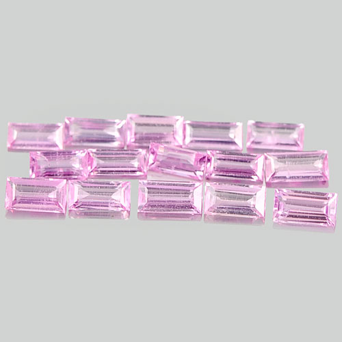 1.24 Ct. 15 Pcs. Alluring Baguette Natural Gems Pink Sapphire Madagascar