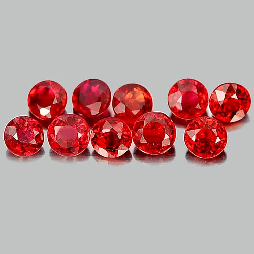 1.21 Ct. 7 Pcs. Delightful Natural Gems Red Sapphire Round Shape