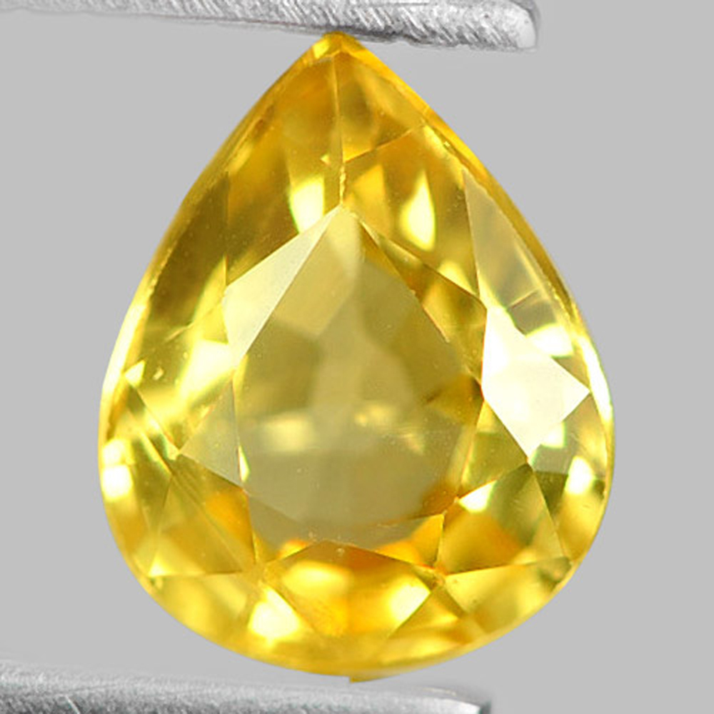 0.73 Ct. Attractive Pear Natural Gem Yellow Sapphire From Thailand