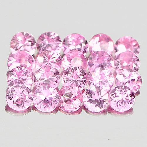1.16 Ct. 20 Pcs. Clean Nice Round Diamond Cut Natural Pink Sapphire Madagascar