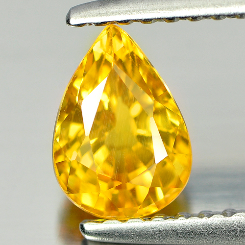 1.19 Ct. Twinkling Pear Shape Natural Gem Yellow Sapphire