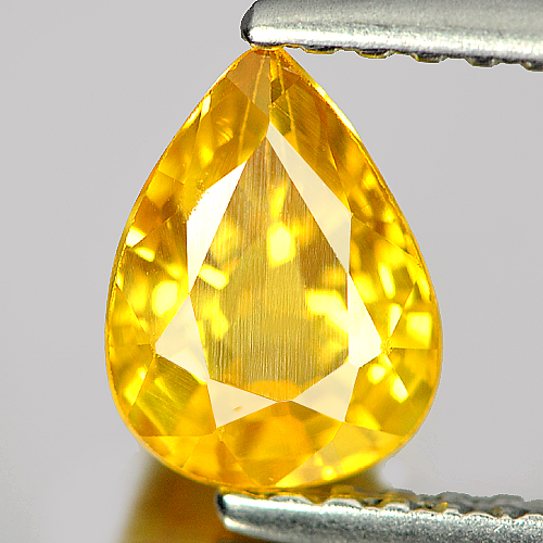 1.12 Ct. Nice Color Pear Shape Natural Gem Yellow Sapphire From Madagascar