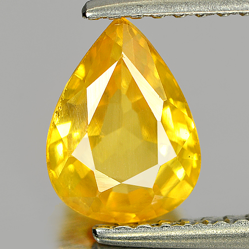 1.47 Ct. Nice Color Pear Shape Natural Yellow Sapphire Gemstone Thailand