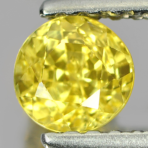 0.69 Ct. Lovely Round Natural Yellow Sapphire Gemstone Thailand