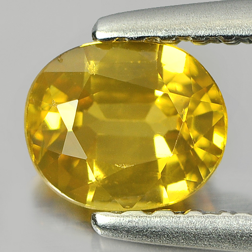 0.63 Ct. Oval Shape 5.6 x 4.7 Mm. Natural Gemstone Yellow Sapphire From Thailand