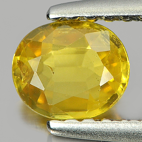 0.55 Ct. Twinkling Oval Natural Yellow Sapphire Gemstone Thailand