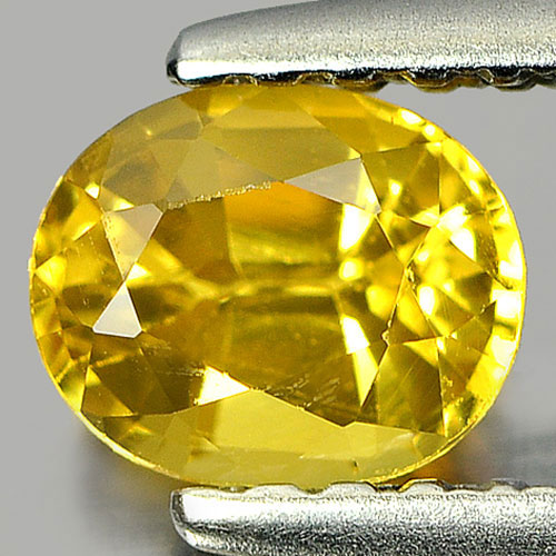 0.66 Ct. Sparkling Oval Natural Yellow Sapphire Gemstone Thailand