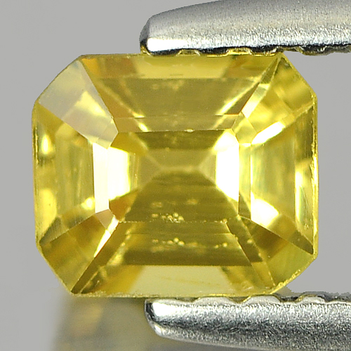 0.51 Ct. Radiant Octagon Natural Yellow Sapphire Gemstone Thailand