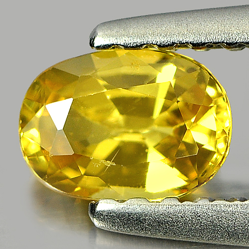 0.51 Ct. Alluring Oval Natural Yellow Sapphire Gemstone Thailand