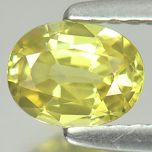0.63 Ct. Nice Color Oval Shape Natural Yellow Sapphire Gemstone Thailand