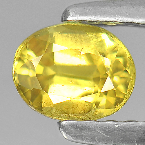 0.60 Ct. Nice Color Oval Shape Natural Yellow Sapphire Gemstone Thailand