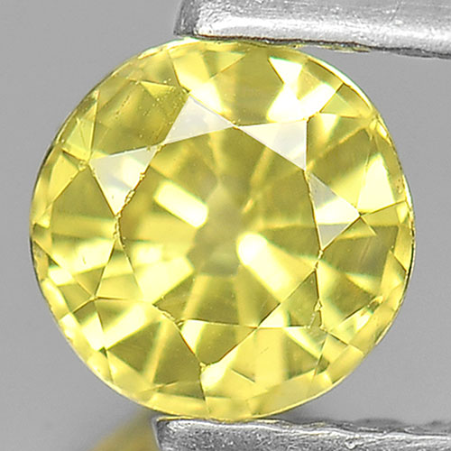 0.54 Ct. Nice Color Round Shape Natural Yellow Sapphire Gemstone Thailand