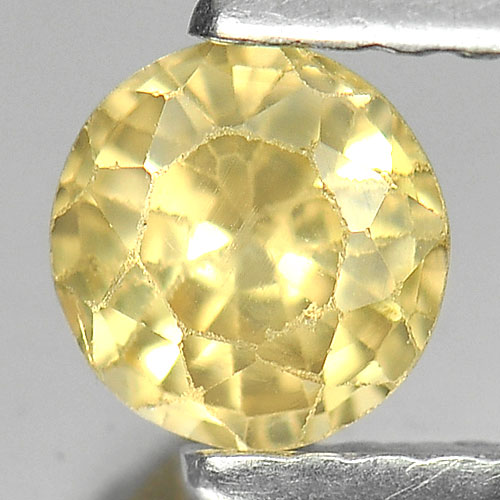 0.65 Ct. Nice Color Round Shape Natural Yellow Sapphire Gemstone Thailand