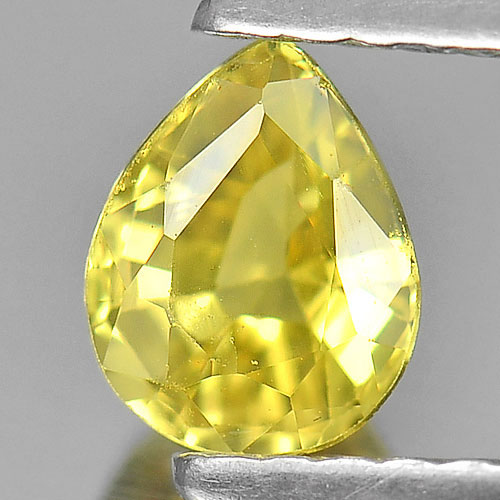 0.69 Ct. Nice Color Pear Shape Natural Yellow Sapphire Gemstone Thailand