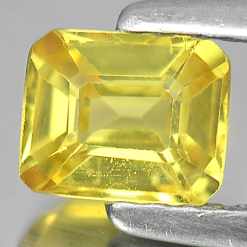 0.67 Ct. Nice Color Octagon Shape Natural Yellow Sapphire Gemstone Thailand