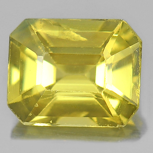 0.78 Ct. Octagon Shape Natural Gemstone  Yellow Sapphire From Thailand
