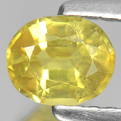 0.61 Ct. Nice Color Oval Shape Natural Yellow Sapphire Gemstone Thailand