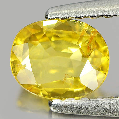 0.59 Ct. Nice Color Oval Shape Natural Yellow Sapphire Gemstone Thailand