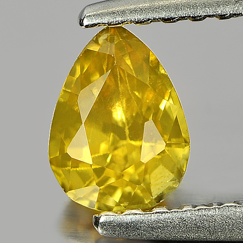 0.66 Ct. Nice Color Pear Shape Natural Yellow Sapphire Gemstone Thailand