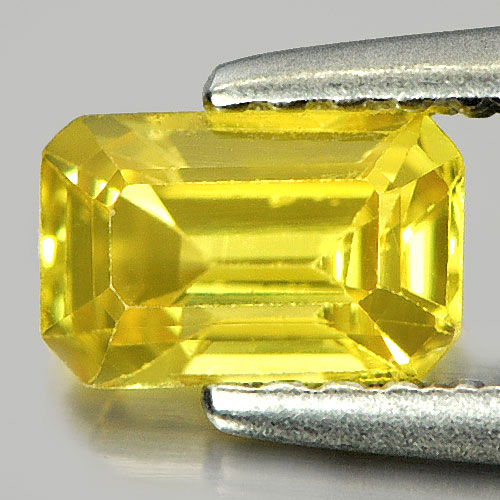 0.70 Ct. Nice Color Octagon Shape Natural Yellow Sapphire Gemstone Thailand