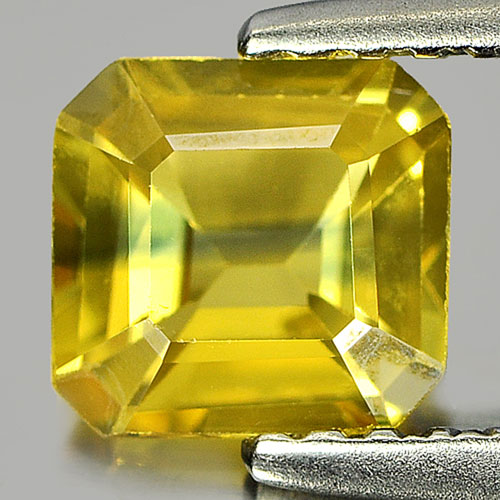 0.90 Ct. Nice Color Octagon Shape Natural Yellow Sapphire Gemstone Thailand