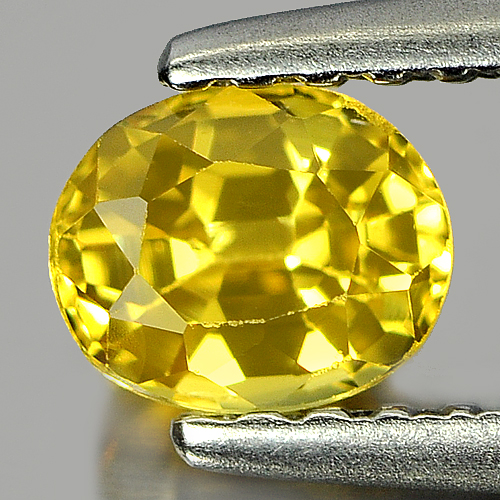 0.57 Ct. Nice Color Oval Shape Natural Yellow Sapphire Gemstone Thailand