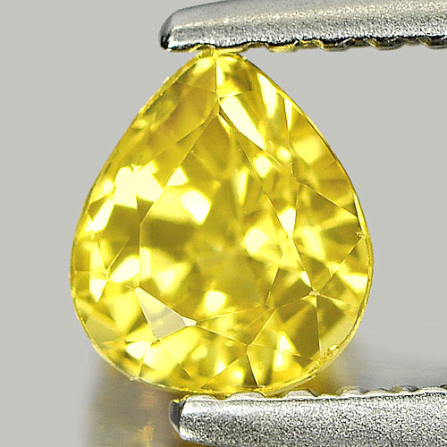 0.89 Ct. Nice Color Pear Shape Natural Yellow Sapphire Gemstone Thailand