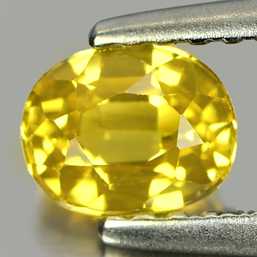 0.72 Ct. Beautiful Oval Shape Natural Yellow Sapphire Gemstone Thailand