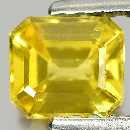 0.81 Ct. Nice Color Octagon Shape Natural Yellow Sapphire Gemstone Thailand