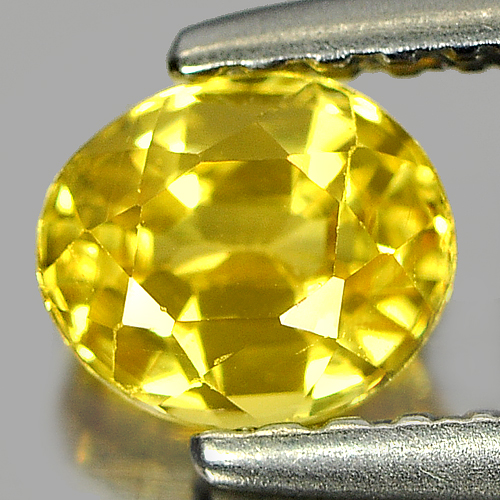 0.65 Ct. Nice Color Oval Shape Natural Yellow Sapphire Gemstone Thailand