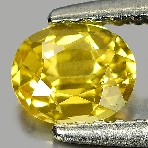 0.51 Ct. Nice Color Oval Shape Natural Yellow Sapphire Gemstone Thailand