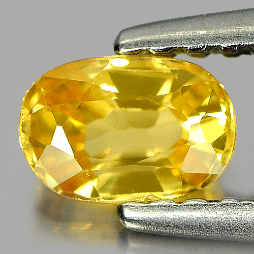 0.53 Ct. Nice Color Oval Shape Natural Yellow Sapphire Gemstone Thailand