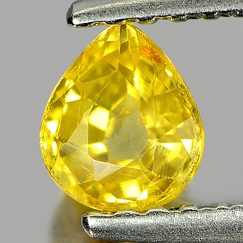 0.51 Ct. Nice Color Pear Shape Natural Yellow Sapphire Gemstone Thailand