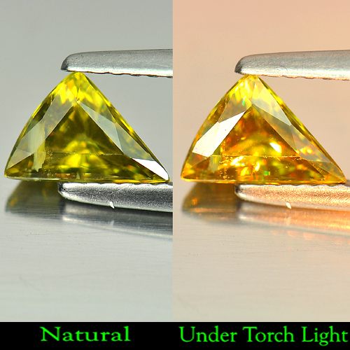 0.97 ct. Natural Multi Color Titanium SPHENE Red Spark