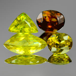 2.22 Ct 4 Pcs. Natural Multi Color Titanium Sphene Gems