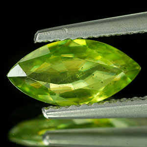0.95 Ct. Marquise Shape Natural Intense Green Sphene Adamantine