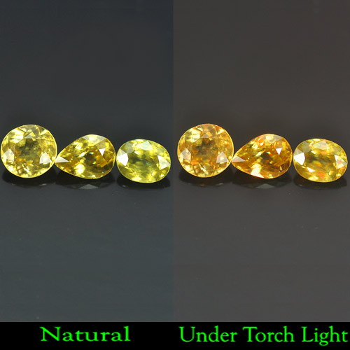 1.93 Ct. Natural Multi Color With Red Spark Sphene
