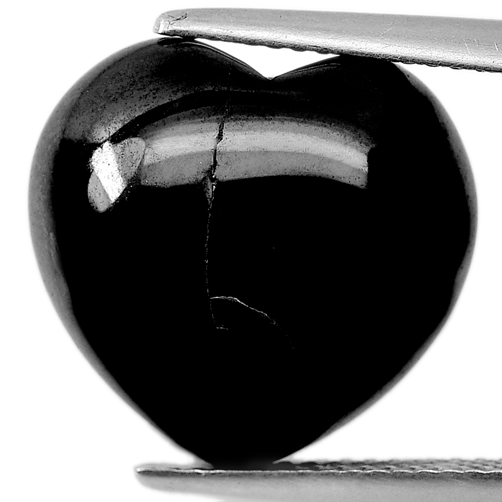 15.20 Ct. Heart Cabochon Natural Gemstone Black Spinel Unheated From Thailand