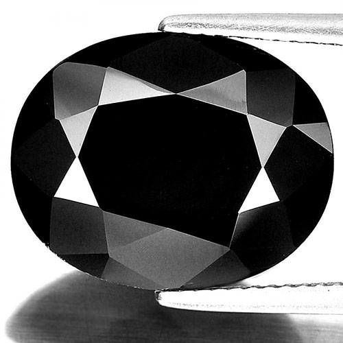 Unheated Gemstone 11.01 Ct. Oval Shape Natural Black Spinel From Thailand