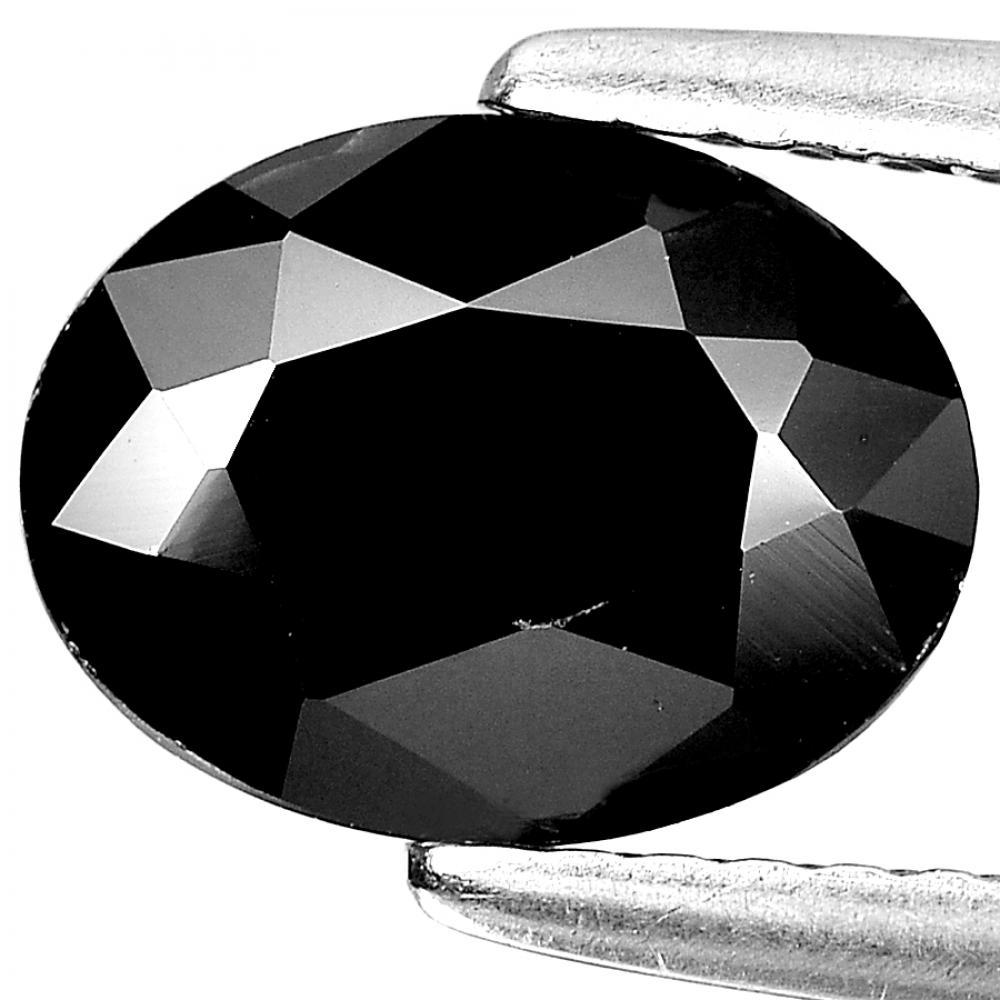 Unheated 1.38 Ct. Beautiful Oval Shape Natural Gem Black Spinel From Thailand