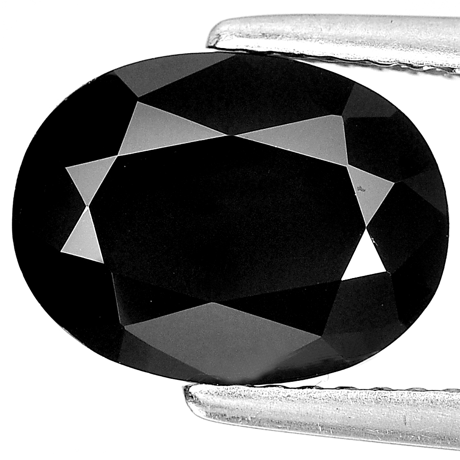 Unheated 2.95 Ct. Nice Oval Shape Natural Gem Black Spinel From Thailand