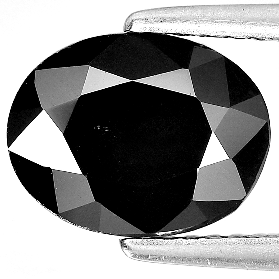 Unheated 2.86 Ct. Wonderful Oval Shape Gemstone Natural Black Spinel