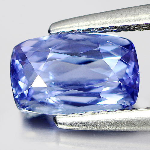 1.00 Ct. Cushion Shape Natural Gem Violetish Blue Tanzanite From Tanzania