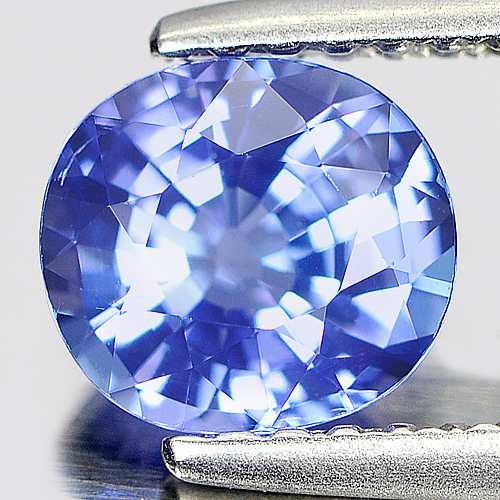 0.90 Ct. Clean Cushion Natural Violet Blue Tanzanite