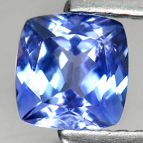 0.78 Ct. Cushion Natural Violet Blue Tanzanite Tanzania