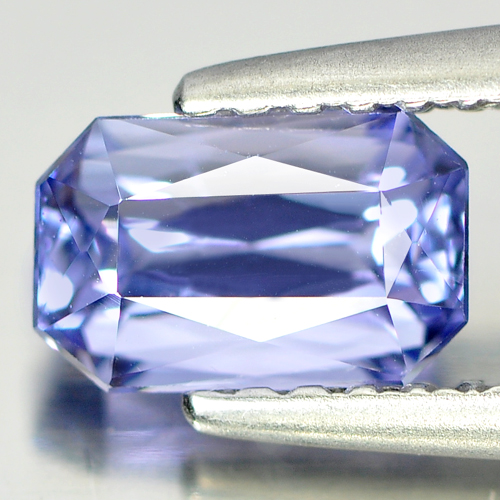 1.00 Ct. Natural Gemstone Octagon Shape Violetish Blue Tanzanite From Tanzania
