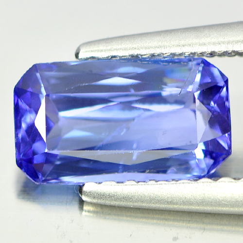 1.22 Ct. Octagon Shape Natural Gem Violet Blue Tanzanite From Tanzania
