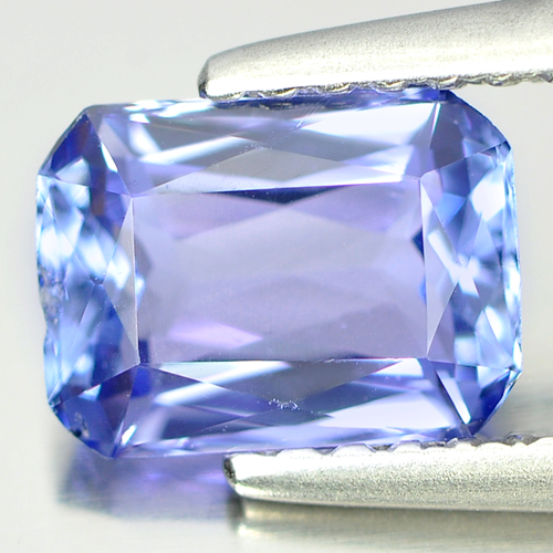 1.25 Ct. Good Octagon Shape Natural Violet Blue Tanzanite From Tanzania