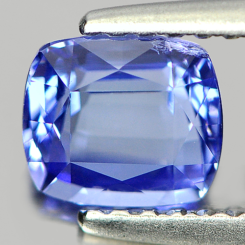 1.04 Ct. Cushion Shape 6x5.31 Mm. Natural Gemstone Blue Tanzanite From Tanzania